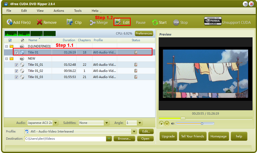 1 choose the video file you want to clip then click effect button on the toolbar to enter effect window