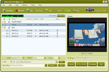 4Free DVD Ripper Software Interface