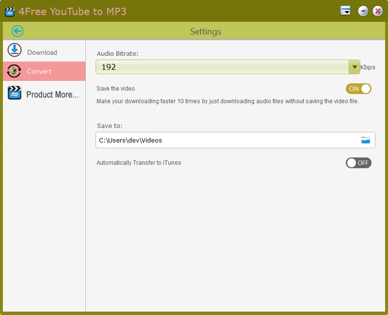 4Free Youtube to MP3 - Download and Convert YouTube to MP3